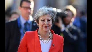 UK's May holds briefing after EU summit in Salzburg