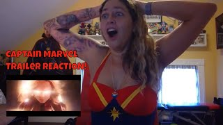 Captain Marvel First Official Trailer REACTION!