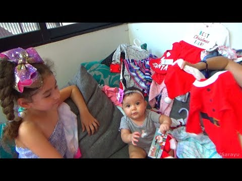 NUEVA ROPA DE SARAYU | 9 MESES | THE NEW CLOTHES OF MY BABY GIRL 9 MONTHS | CHRISTMAS CLOTHES