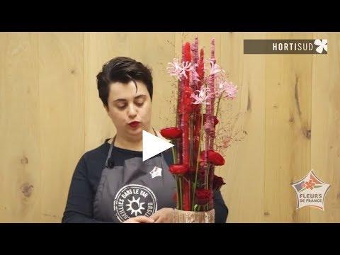 Bonjour les fleuristes : St Valentin par Charline PRITSCALOFF avec les fleurs du Var