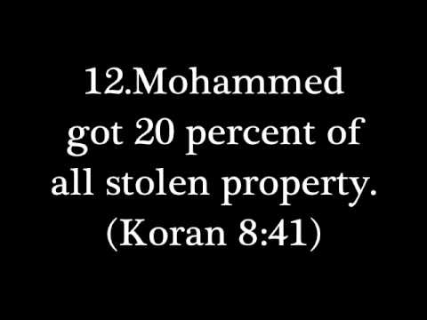 20 PROBLEMS WITH THE prophet Mohammed
