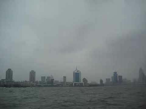 boat on qingdao harbor