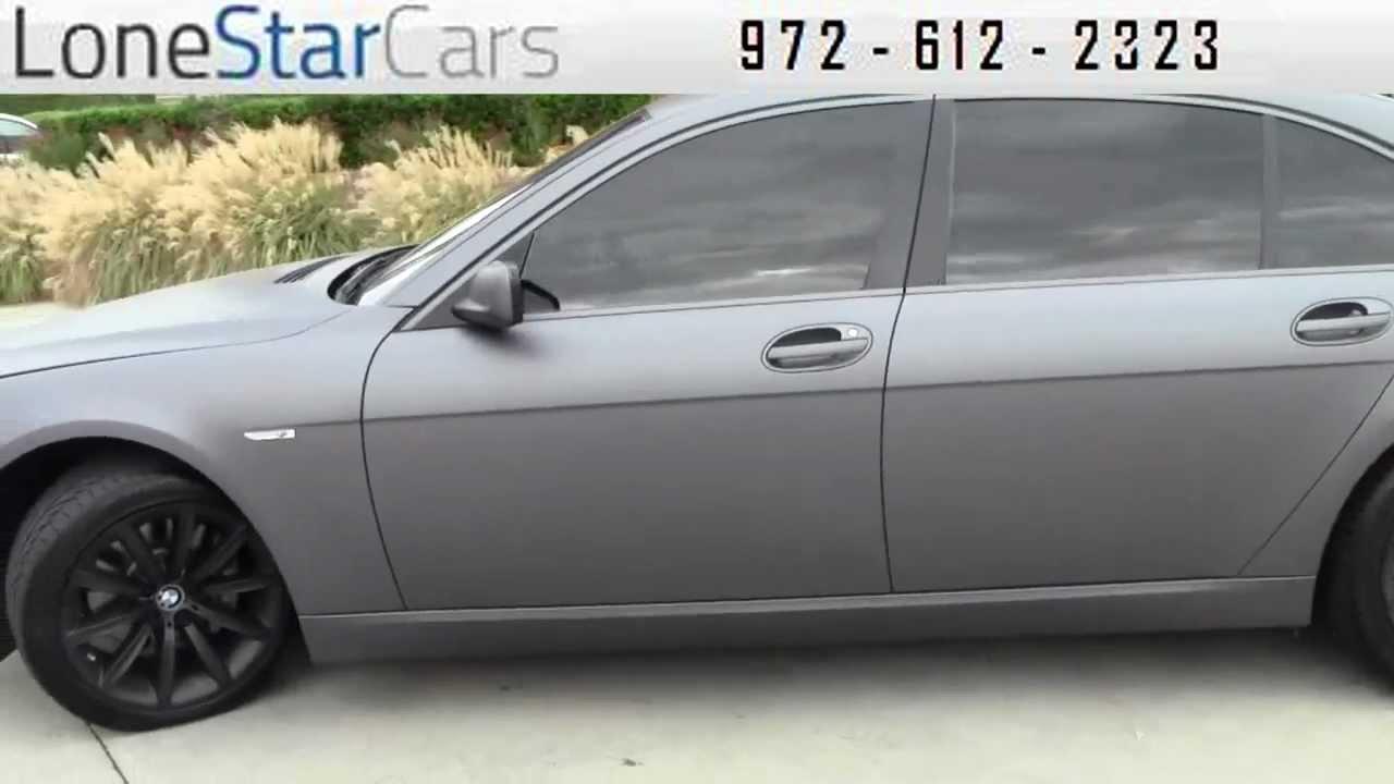 2008 Bmw 7 Series 750li Matte Flat Gray Used Cars Plano