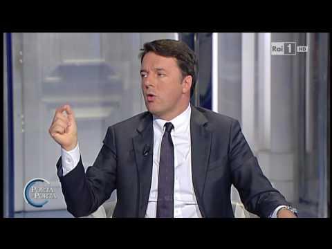 Matteo Renzi e le pensioni - Porta a Porta  06/09/2016