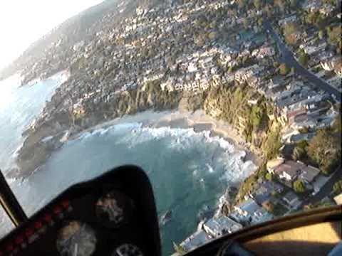 helicopter flight over laguna beach