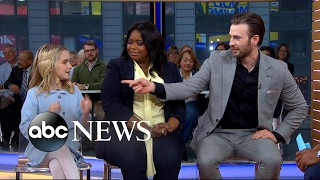 Chris Evans, Octavia Spencer and Mckenna Grace open up about