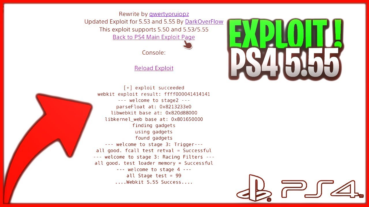 Summary -> Host Your Own Ps4 Webkit Exploit Page On Lan By Al Azif