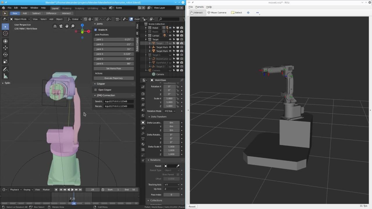 Animating Industrial Robots with Blender - Machine Koder