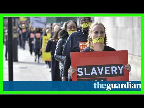 'damning': theresa may under fire as anti-slavery scheme branded a failure