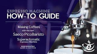 Making an Americano And Cappuccino with the Saeco PicoBaristo Superautomatic Espresso Machine