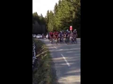 2.gang opp Reistadbakkene, gruppetto, Glava Tour of Norway