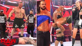 Monday Night Raw 11 October 2021 Highlights Brock attacks Roman Drew Big E Faceoff KOTR Paige