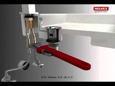 instalacion de monomando helvex vertika e 905 youtube