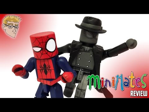 Marvel MINIMATES Ultimate SPIDER-MAN Web Warriors SPIDER-MAN NOIR & ITSY BITSY SPIDER-MAN REVIEW