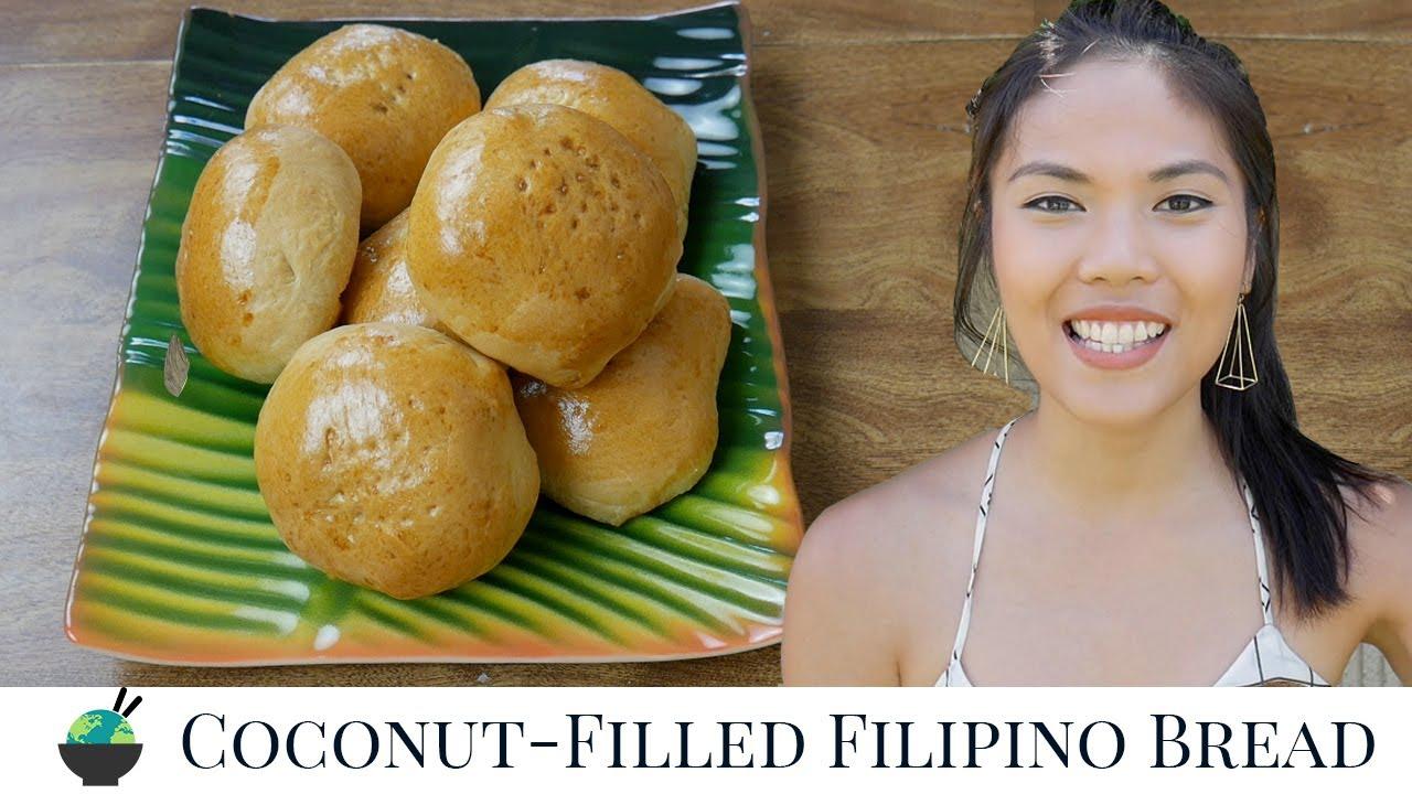 Pan De Coco Recipe | How To Make Filipino Sweet Coconut Bread | Filipino Recipes Desserts