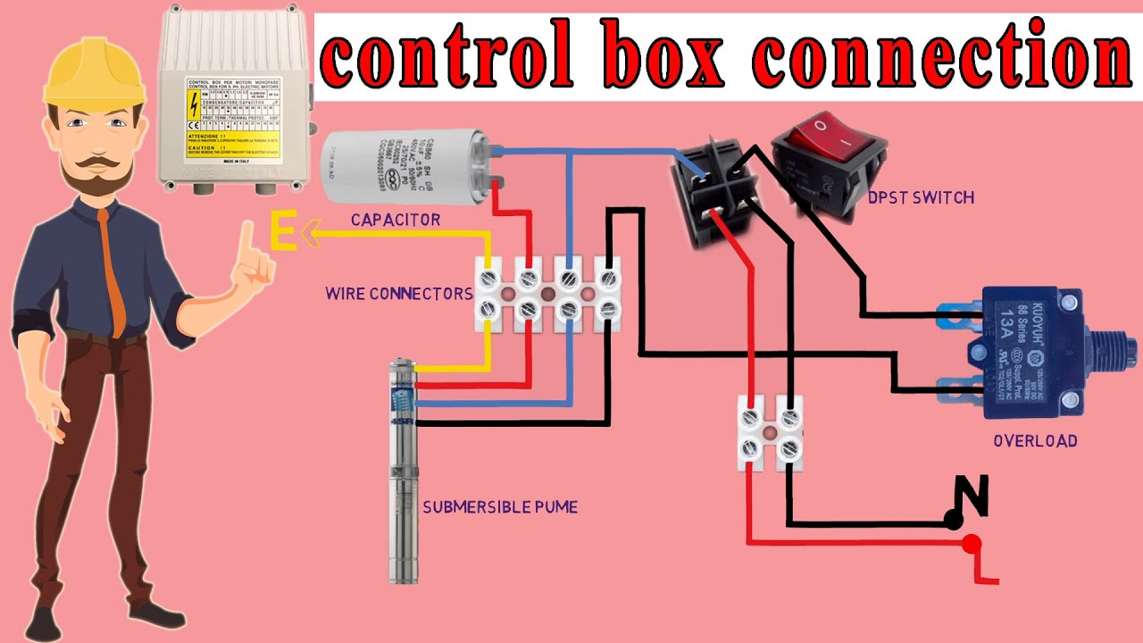 Submersible Motor Control Box Connection