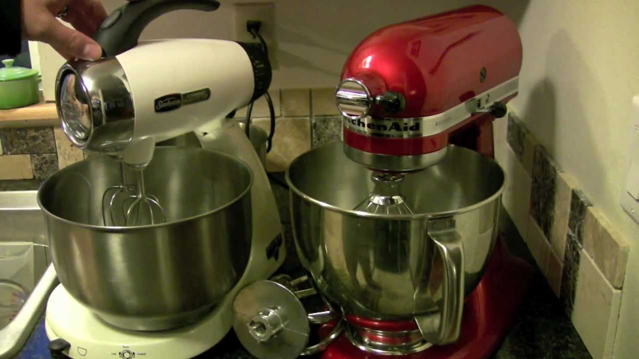 KitchenAid Artisan Mixer compared with SunBeam Heritage
