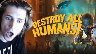 DESTROY ALL HUMANS! - xQcOW Full Playthrough
