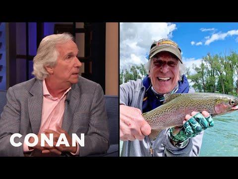 Henry Winkler Loves Fly Fishing - CONAN On TBS