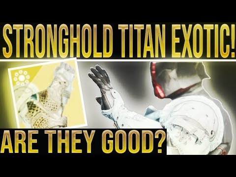 Destiny 2 Exotic Review. STRONGHOLD TITAN EXOTIC GAUNTLET REVIEW! Season Of the Drifter. thumbnail