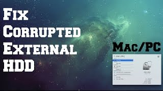 [UPDATE] Fix Corrupted External HDD Mac/PC (WD my passport)