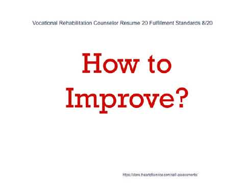 Vocational Rehabilitation Counselor Resume 20 Fulfillment Standards