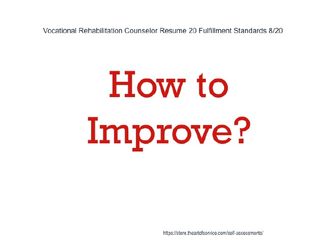 Vocational Rehabilitation Counselor Resume 20 Fulfillment Standards
