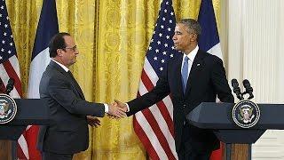 Obama et Hollande appellent à intensifier les frappes contre le groupe Etat islamique