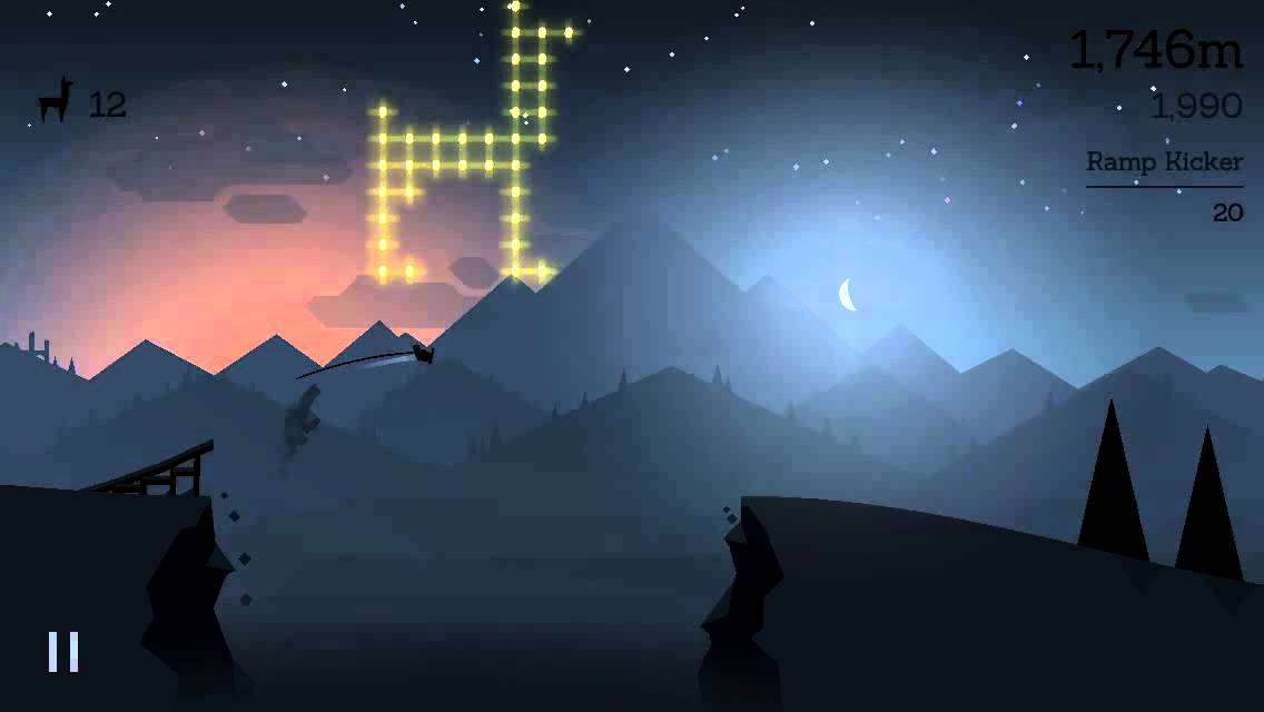 Alto's Adventure: Just Alto (beating my high score - 15,000 meters) - iOS  iPhone 5 Gameplay