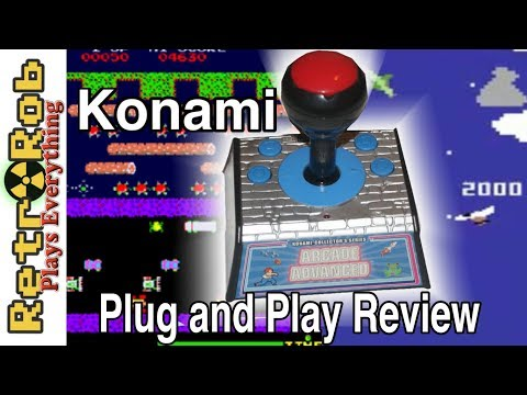 Konami Arcade Advanced Plug and Play Review --  All Games Played... Poorly..