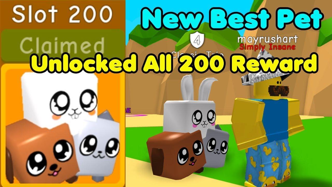 Unlocked All 200 Beach Rewards! Got Classic Trio! New Best Pet! - Bubble Gum Simulator