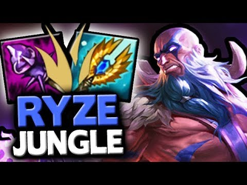 RYZE JUNGLE MACHINE GUN MAGE - Patch 8.10 New Jungle Changes Gameplay