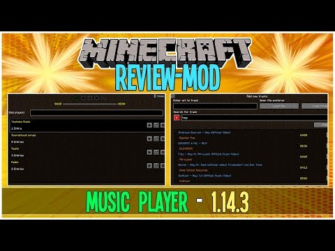 REVIEW - MUSIC PLAYER / MOD Para Minecraft 1.14.3 | Personaliza Tu Juego | GybertGamerYT #53