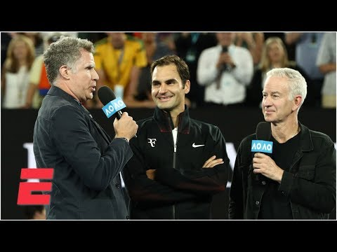 See Will Ferrell asks Roger Federer Ridiculous Questions at Australian Open!