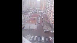 Конец апреля в Москве, заметает.