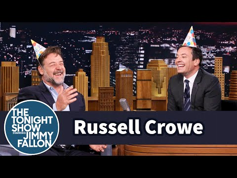 Russell Crowe And Jimmy Share Australian Fairy Bread For His Birthday