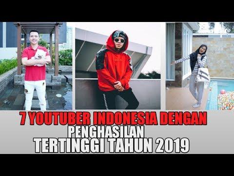 7 Youtuber Indonesia Dengan Penghasilan Tertinggi di Tahun 2019