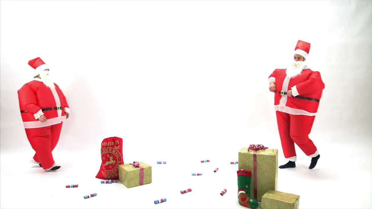 Bodysocks Adult Inflatable Santa Costume - YouTube