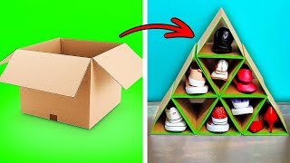 32 USEFUL CARDBOARD CRAFTS || 5-Minute Decor Projects For Your Home!