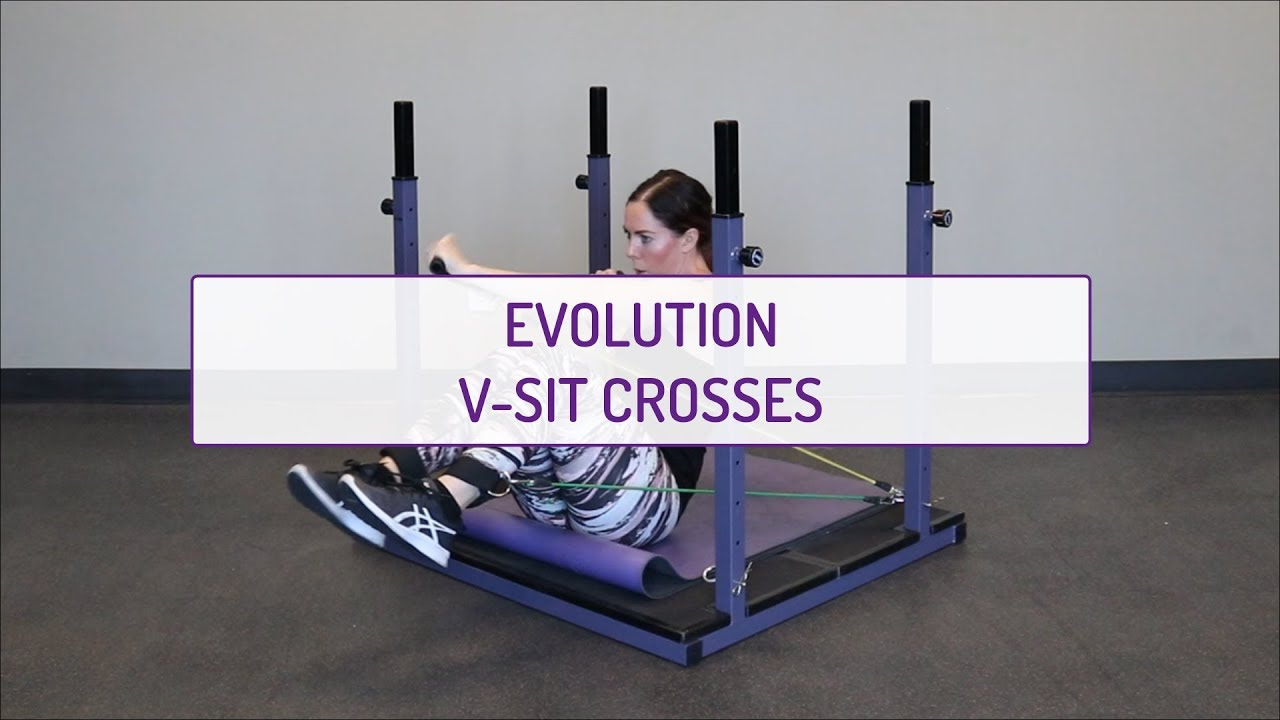 Home Exercises | Evolution V-Sit Crosses | Strength | Arms, Legs & Abs
