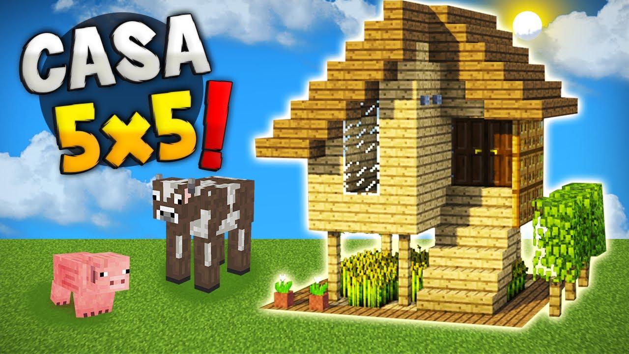 Minecraft crea una pica casa para survival 5x5 super for Como crear una casa