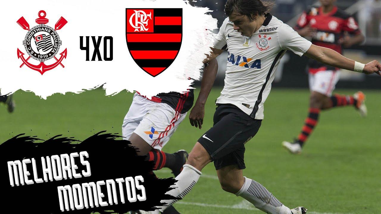 Corinthians 4x0 Flamengo Melhores Momentos Brasileirão 2016