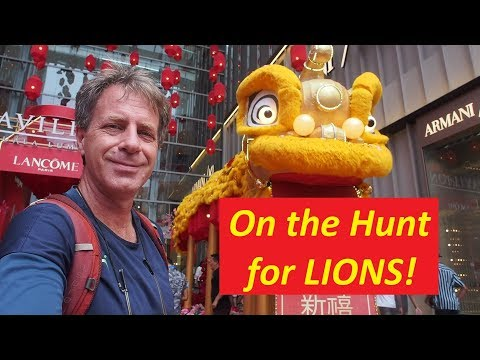 Hunting for LIONS in Malaysia! [The Chinese New Year Acrobatic Lion Dance]
