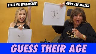 Abby Lee Miller vs.  Elliana Walmsley - Guess Their Age