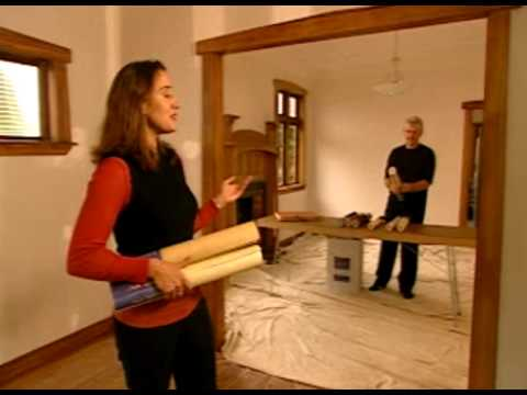 how to hang wallpaper part 8 papering around windows and doors youtube. Black Bedroom Furniture Sets. Home Design Ideas