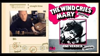 The Wind Cries Mary Solo Guitar Lesson. Pick Muting & Semiquaver/16th Note Triplets: