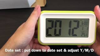 Jcc Smart Light Digital Alarm Clock Unboxing And Review -830