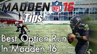 Madden 16 Tips |  Best Option Run In Madden 16 | The Shovel Option