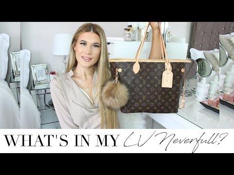 682de10ac527 Смотреть видео What s In My Carry On Bag  Louis Vuitton Neverfull MM  онлайн
