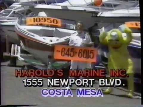 1989 Harold's Marine Dealer TV Commercial, Los Angeles CA